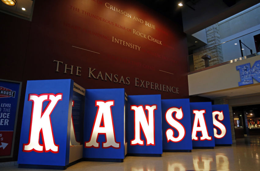 Jan 7, 2017; Lawrence, KS, USA; A general view of the entrance to Allen Fieldhouse before the game between the Texas Tech Red Raiders and the Kansas Jayhawks. Mandatory Credit: Jay Biggerstaff-USA TODAY Sports