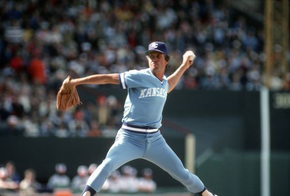 Larry Gura #37 of the Kansas City Royals (Photo by Focus on Sport/Getty Images)