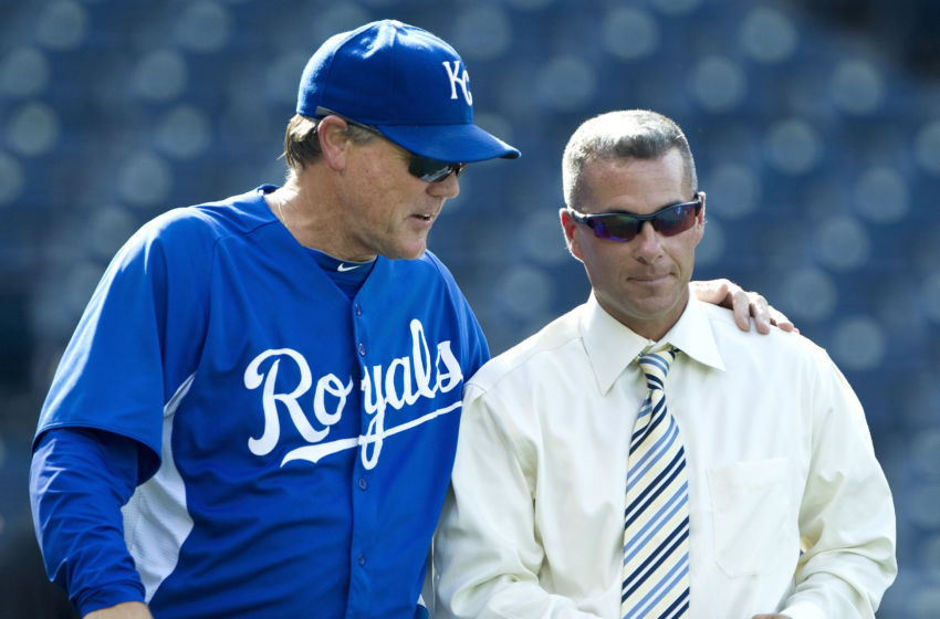 Kansas City Royals manager Ned Yost and general manager Dayton Moore in 2011 (John Sleezer/Kansas City Star/MCT via Getty Images)